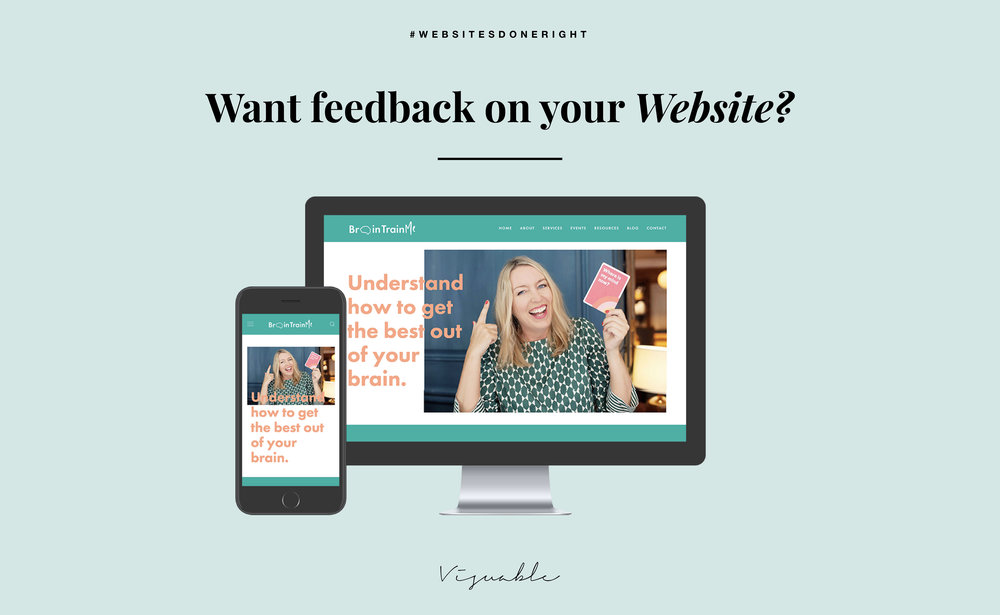 website designer for a personal brand