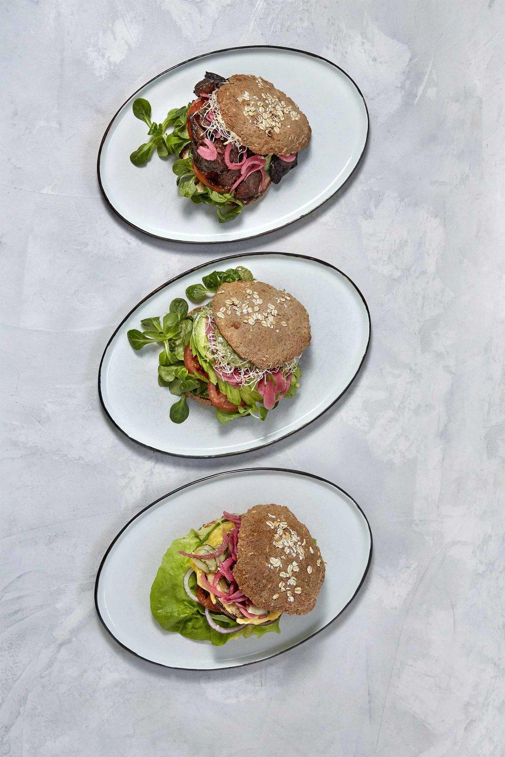 Sandwich og burger