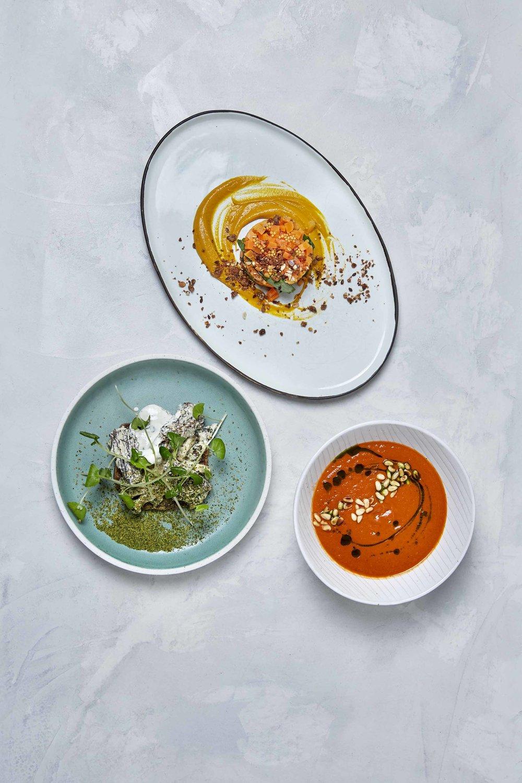 Gulerodstatar, tomatsuppe, svampetoast