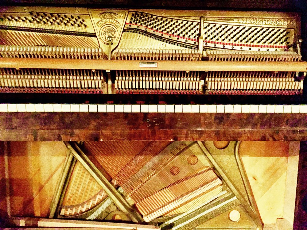 Beautiful old piano at Skillinge Theatre