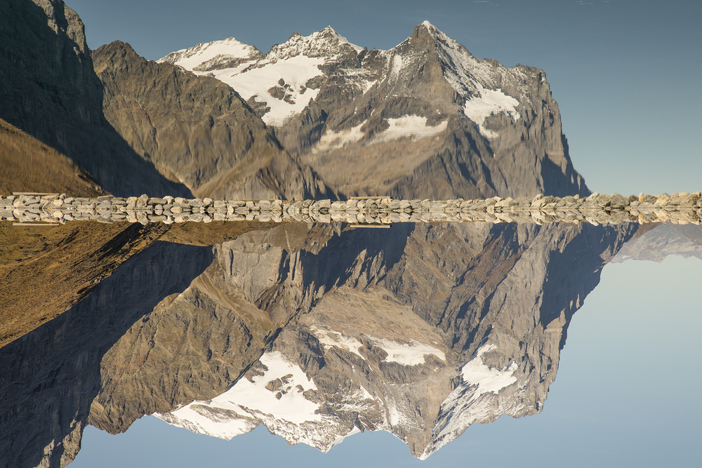 Wetterhorn mirrored