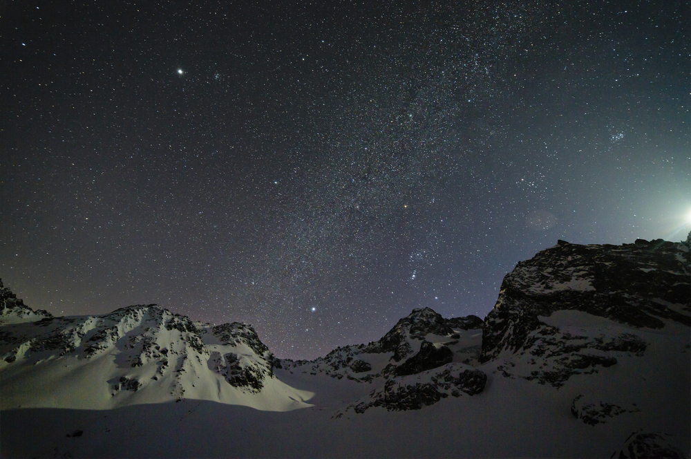 Moonlight over Vorarlberg Backcountry