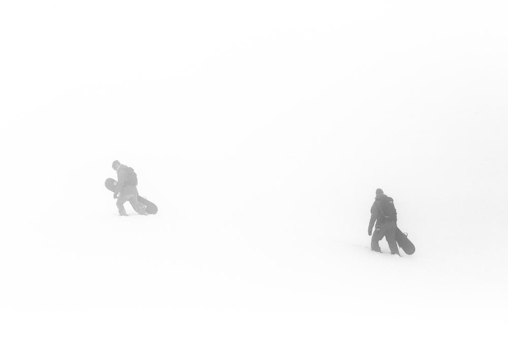 Hiking through the mist