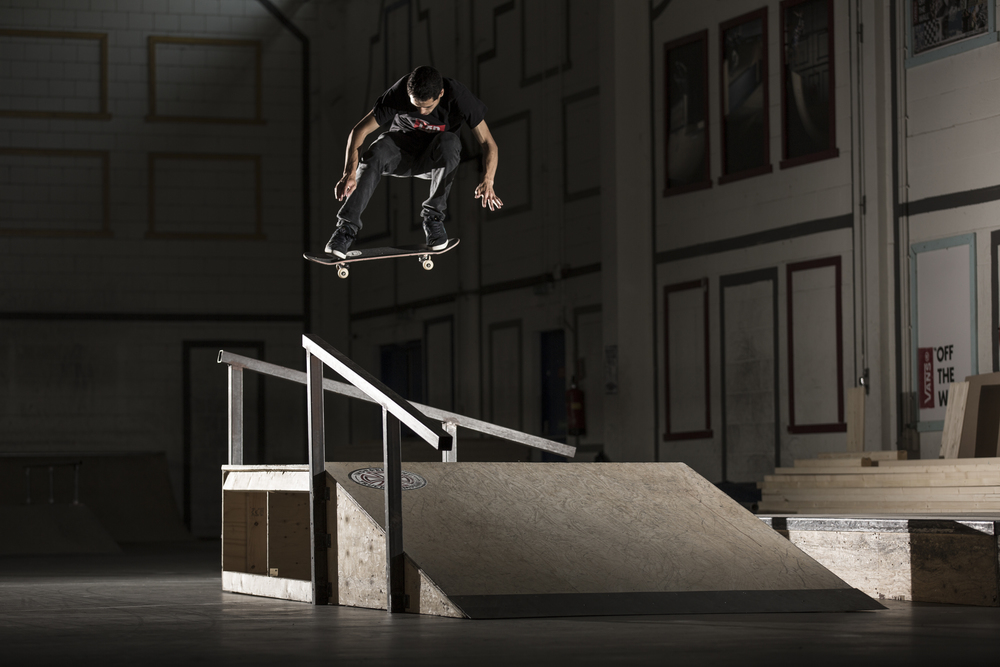 Sean Ringeling Backside 180 in skatepark Utrecht
