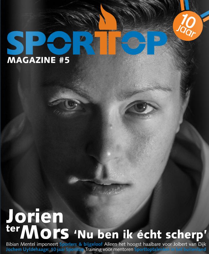 Covershot of Jorien ter Mors for Sporttop Magazine