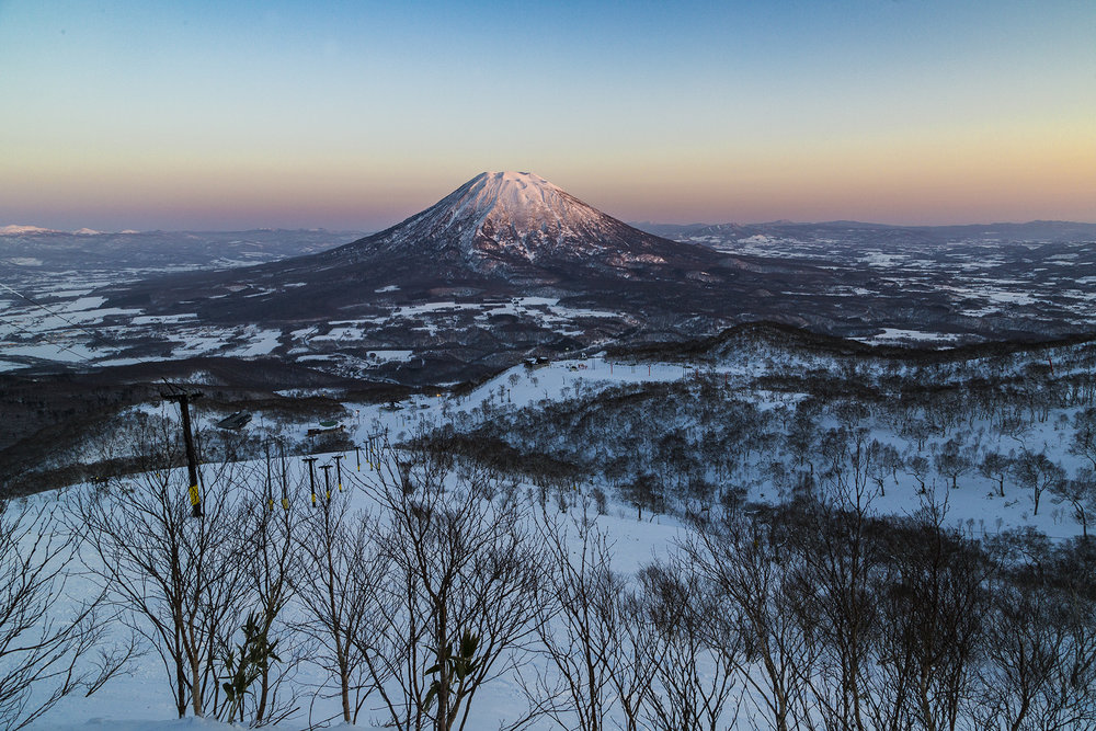 Sunset on Mount Yotei
