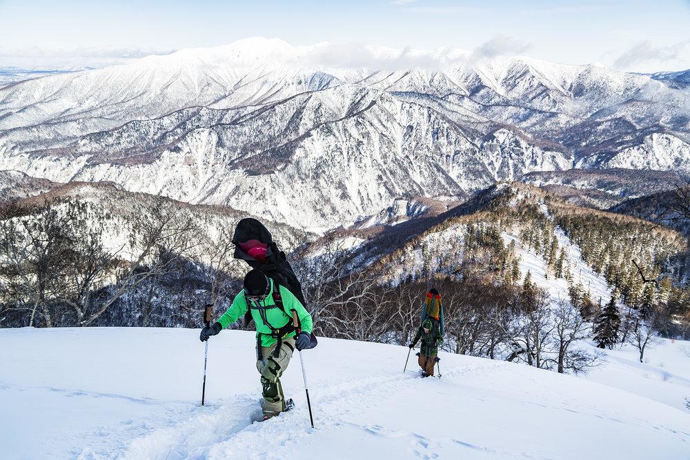 Hiking in the Daisetzusan mountain range