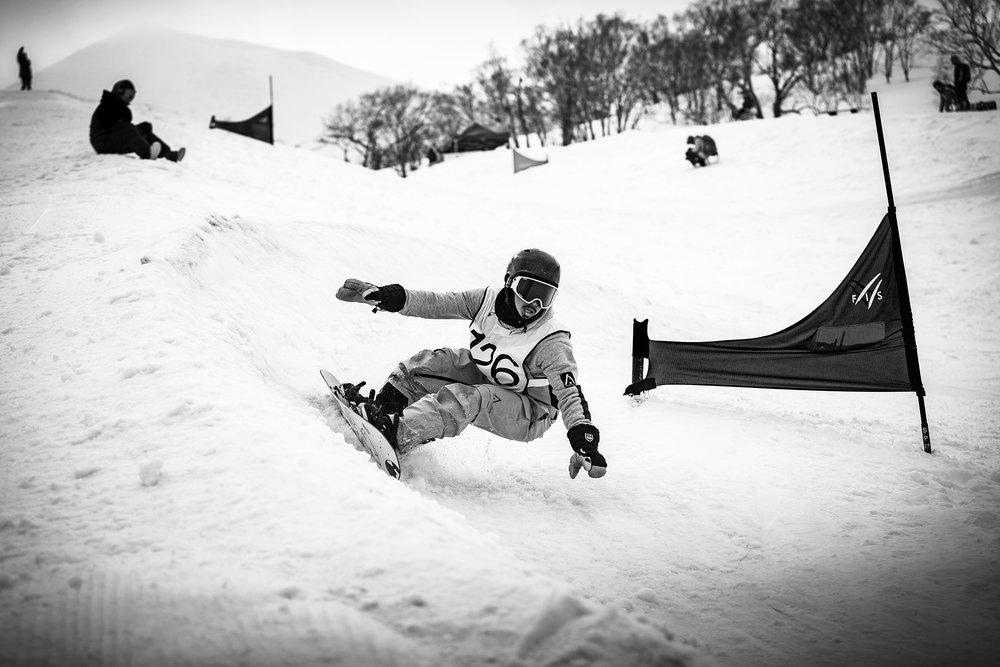Banked Slalom in Hanazono, Hokkaido, Japan