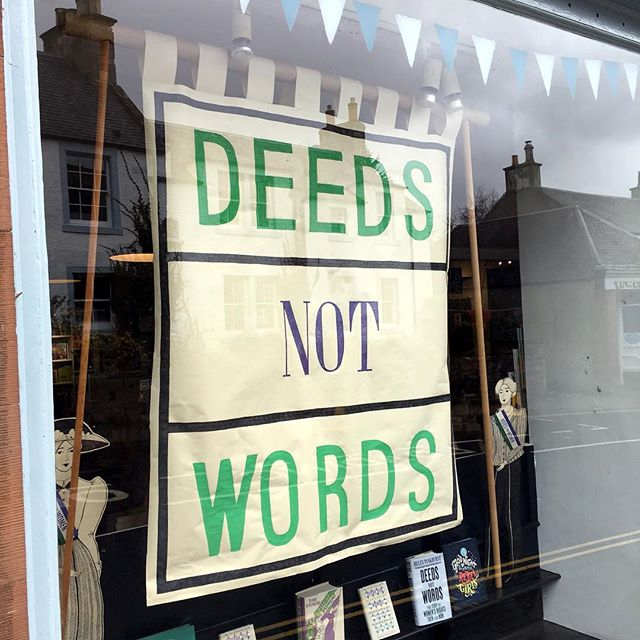 Love the current window at @mainstreethare! Any chance I could, err take it off your hands after? Would love to display it at @borderstudio permanently. Next on my never ending list of books to buy is 'Rise Up, Women! TheRemarkable Lives of the Suffragettes' by Diane Atkinson. Might have to pop in again on Friday & treat myself, again. What harm would one more book do? (Glances at the thousands of books I currently have - although I do treasure them all) 📚