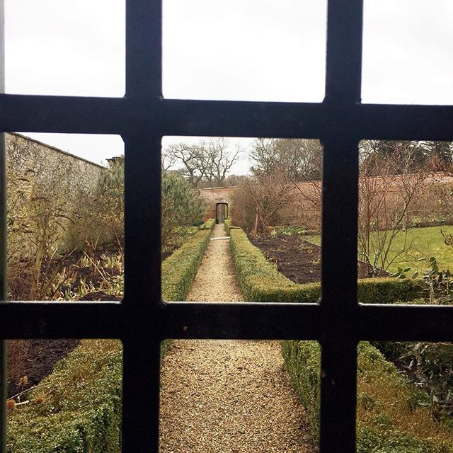 Like peering into a different world. Looking forward to seeing the walled garden at @abbotsfordscott bloom & come alive over the next few weeks!