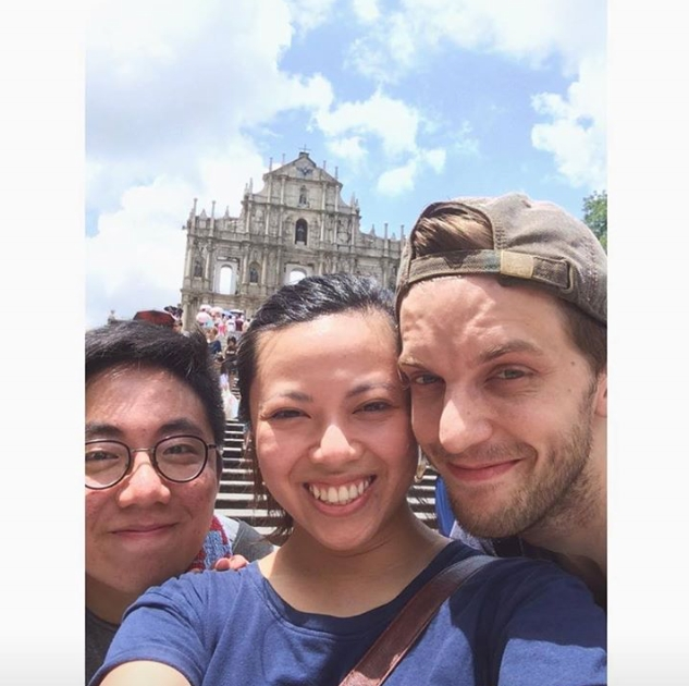 Nicholas, Ease and I in Macau!