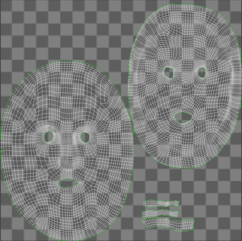 Retopologized Mask UVs.