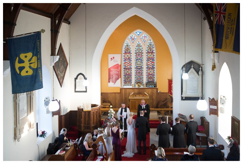 Anne's uncle made the ceremony extra special as their marriage officiant.