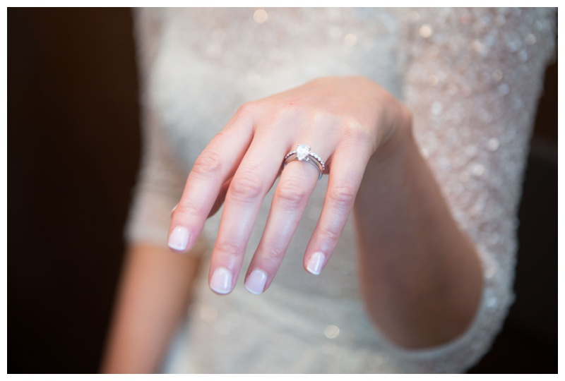 Anne's stunning engagement ring and wedding ring is from  Murray&Co