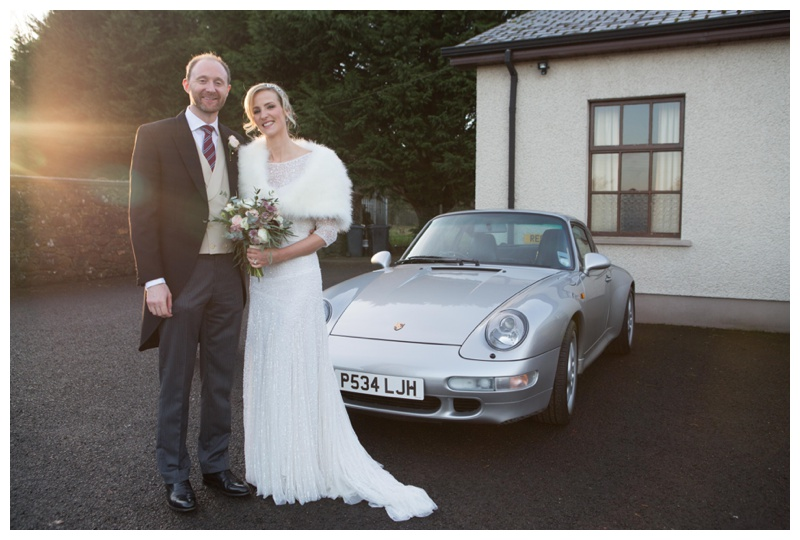 Neil's pride and joy (after Anne of course!);making their first drive as husband and wife in style!