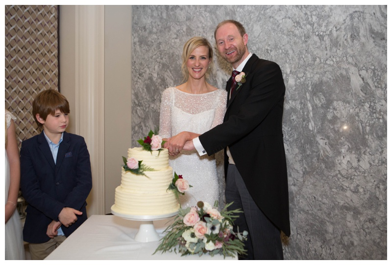 Their wedding cake was created by Christine Pyer, a family friend. You're a talented lady!
