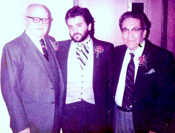 Ron with his grandfathers in 1983.