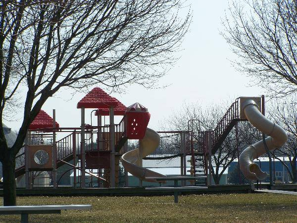 Bigelow Park, Bay City, MI - Home to the new Riverview Discovery Island Playground.