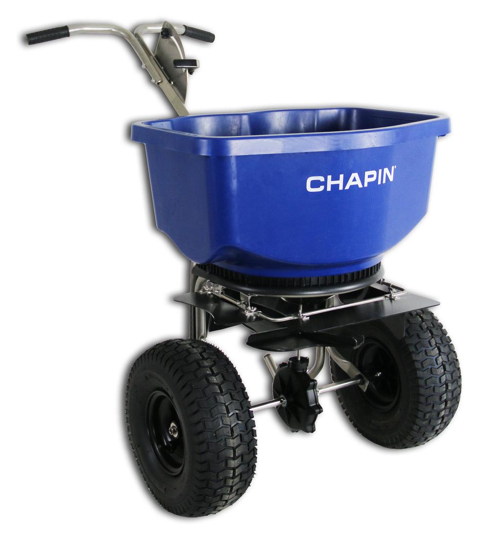 82400B 100 lb. Professional Rock Salt Spreader    https://chapinmfg.com/Product/slug/chapin-82400-100-pound-capacity-salt-spreader