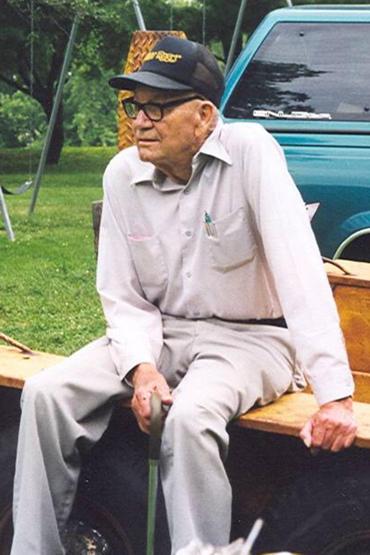 """Bob """"R.J."""" Thomas at a company picnic."""