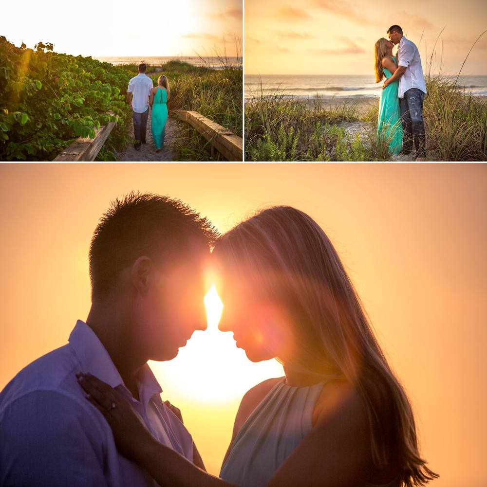 Lori Wilson Park Cocoa Beach Sunrise Engagement Session Mint Green dress- Bri 9.jpg