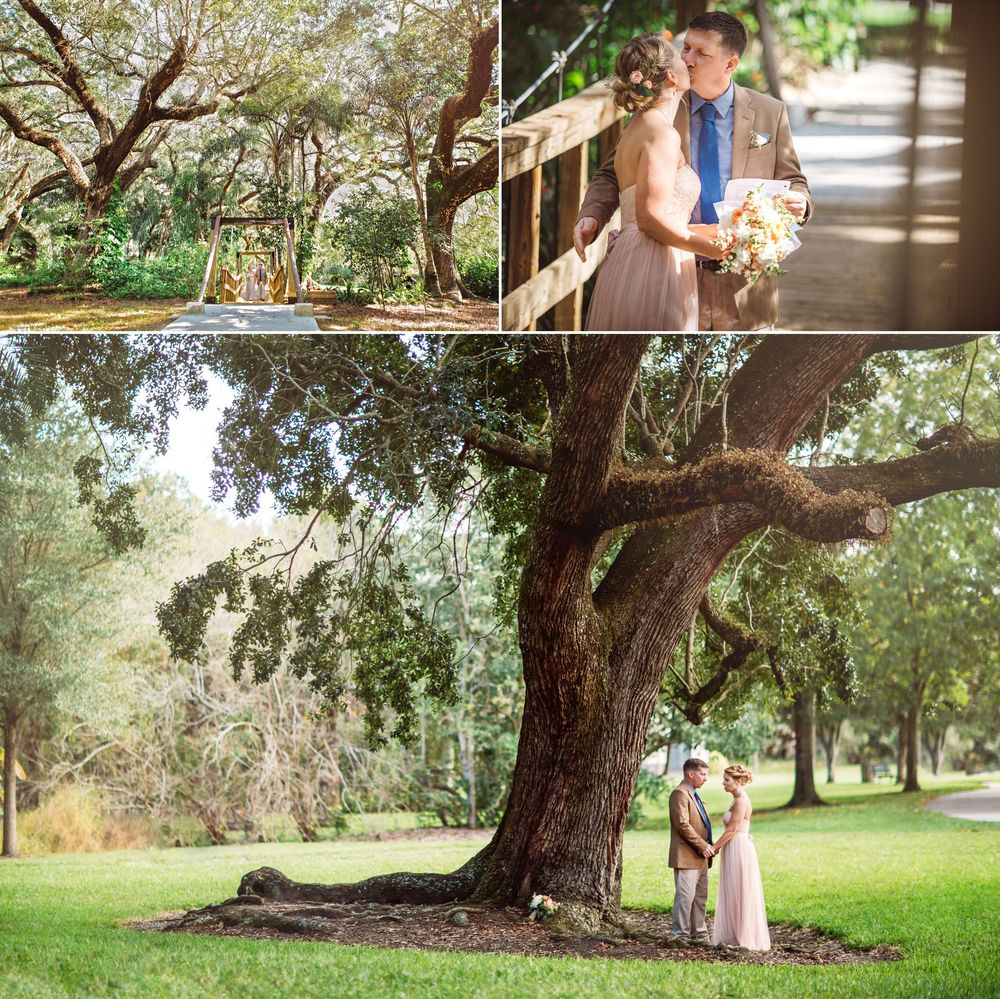 Live Oak Tree Organic outdoor Orlando Wedding Photos in BHLDN Gown .jpg