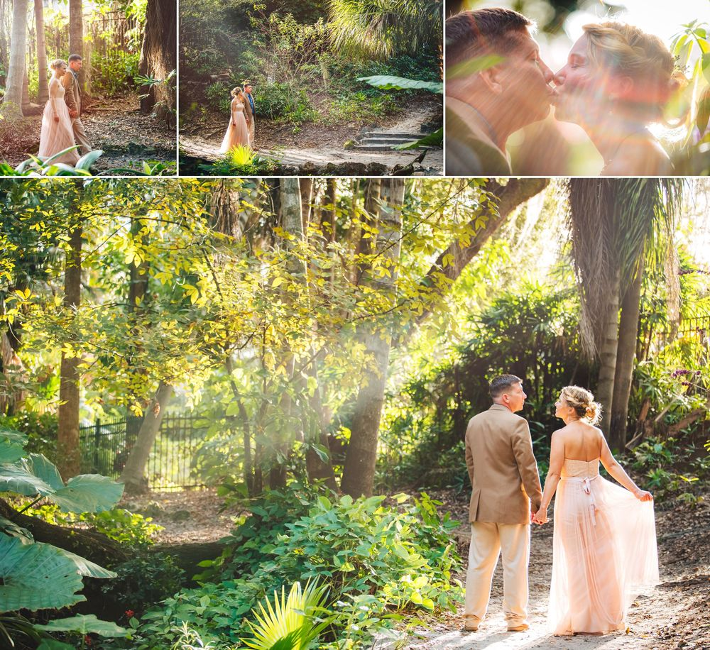 Romantic Orlando Wedding Photography Garden Pathway Sunbeams.jpg