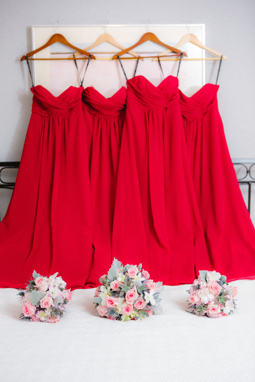 Downtown Orlando Wedding at Lake Lucerne Christmas Theme Red Dress Navy Suits 017.jpg