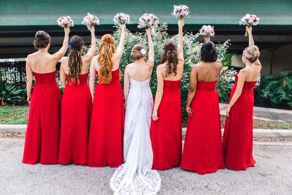 Downtown Orlando Wedding at Lake Lucerne Christmas Theme Red Dress Navy Suits 051.jpg