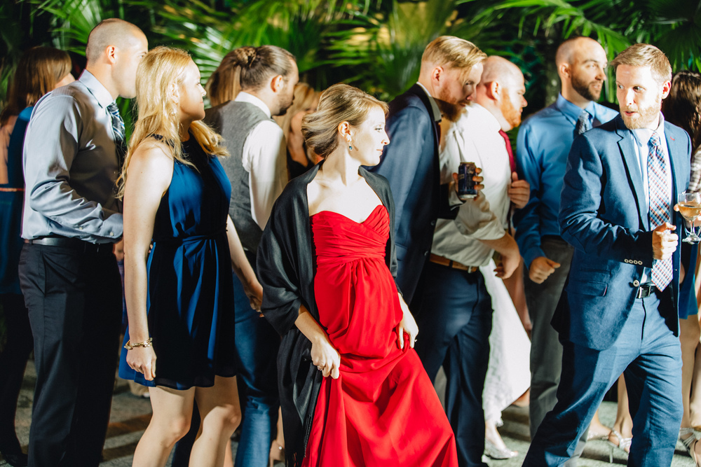 Downtown Orlando Wedding at Lake Lucerne Christmas Theme Red Dress Navy Suits 196.jpg