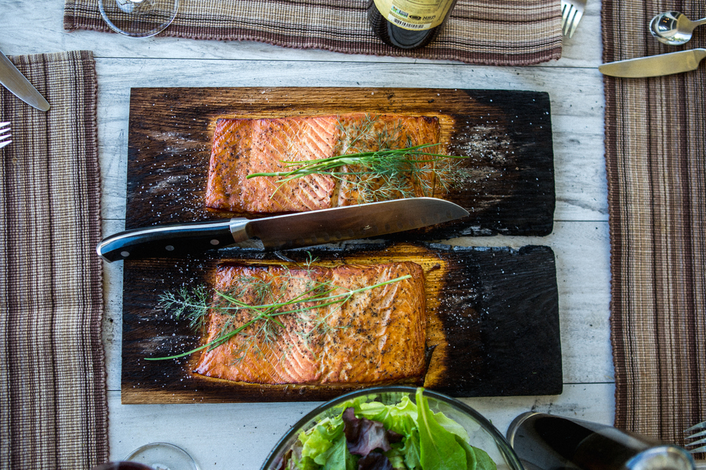 Experivida Food cedar Planked salmon grilled avocado organic vegetables cooking space girl-1774.jpg