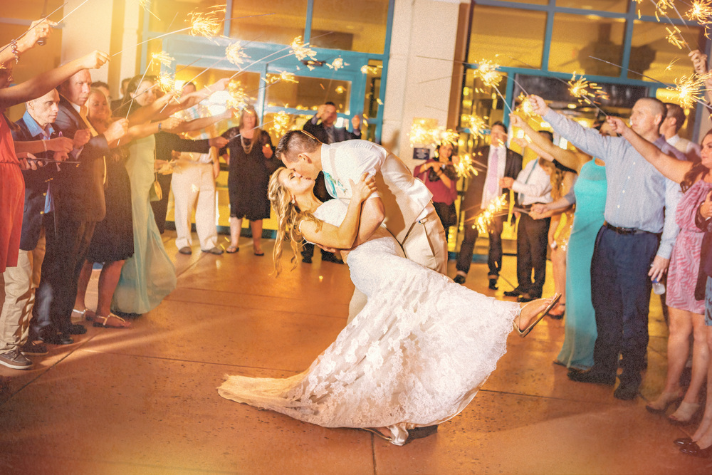 Hilton Daytona Beach wedding sparkler exit send off inspiration ideas