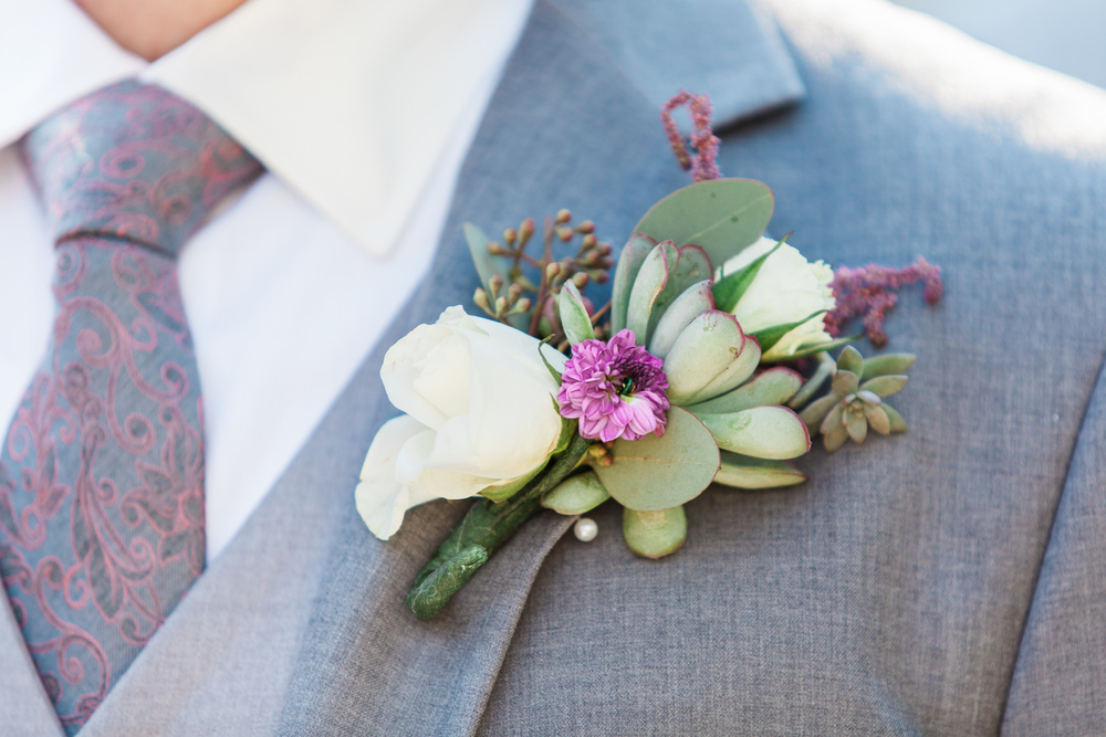 Winter Park Farmer's Market Wedding- Michael & Megan Fine Art Wedding Purple echeveria eucalyptus rose florals7.jpg