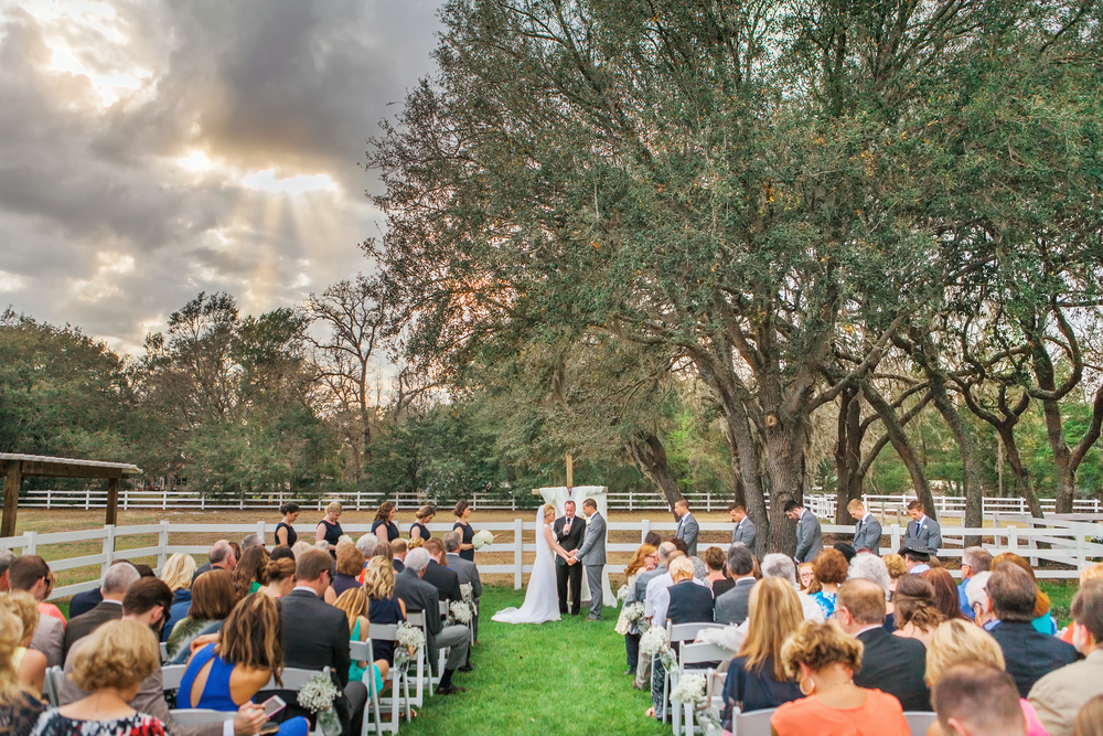 Claire & Sean Bramble Tree Estate Wedding ceremony aisle clouds.jpg