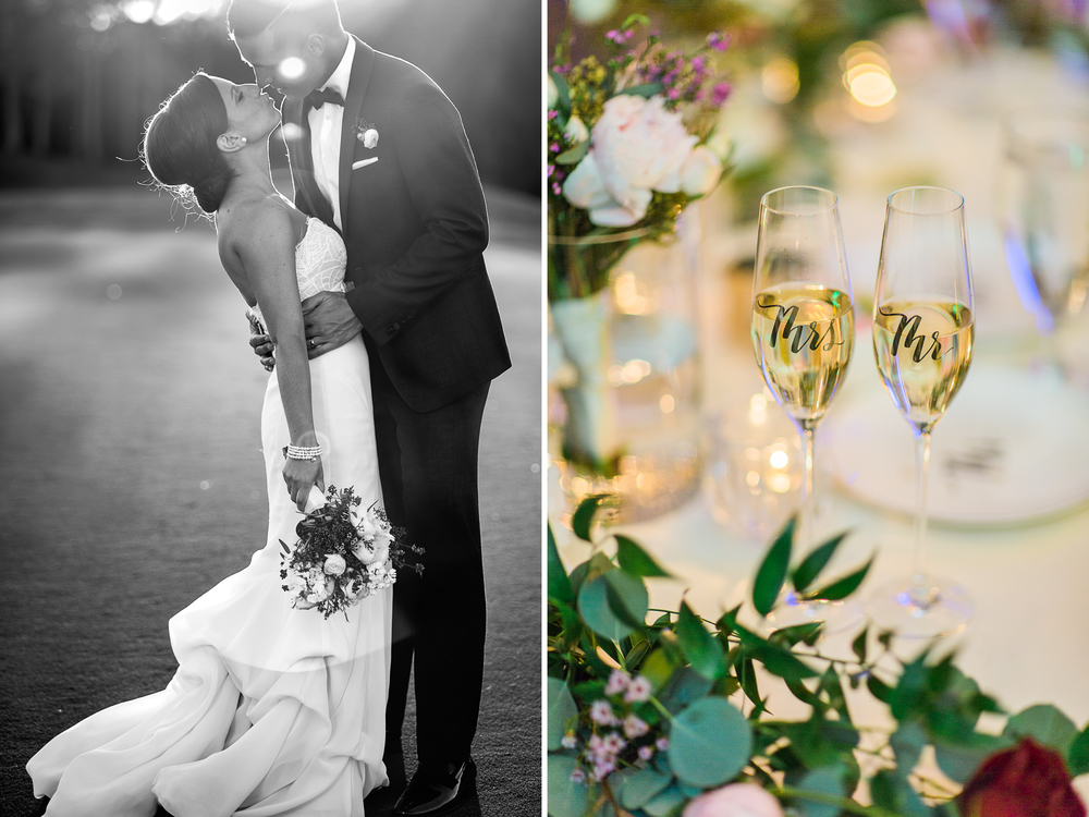 Allie & David Shingle Creek wedding - sunset champagne mermaid wedding gown diptych mastin.jpg