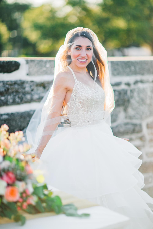 St. Augustine fine art wedding castillo de san marco floral wedding photographer shaina deciryan 45.jpg