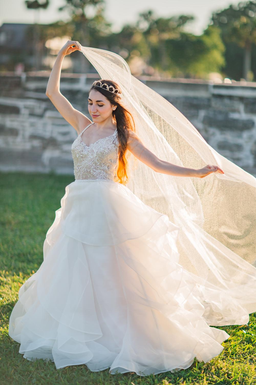 St. Augustine fine art wedding castillo de san marco floral wedding photographer shaina deciryan 47.jpg