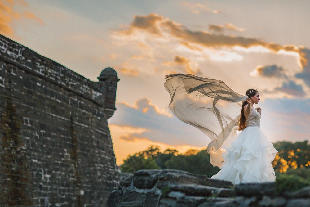 St. Augustine fine art wedding castillo de san marco floral wedding photographer shaina deciryan 78.jpg