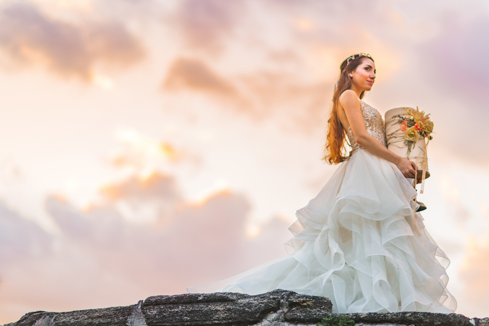 St. Augustine fine art wedding castillo de san marco floral wedding photographer shaina deciryan 94.jpg