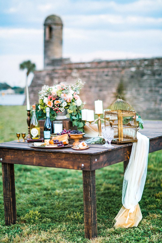 St. Augustine fine art wedding castillo de san marco floral wedding photographer shaina deciryan 109.jpg