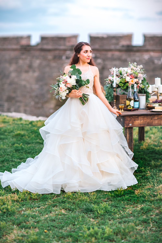 St. Augustine fine art wedding castillo de san marco floral wedding photographer shaina deciryan 118.jpg