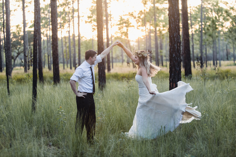 Wekiva Springs Post-Wedding Session, makeup by  Laura Reynolds Artistry , foraged florals by  Aquayeti