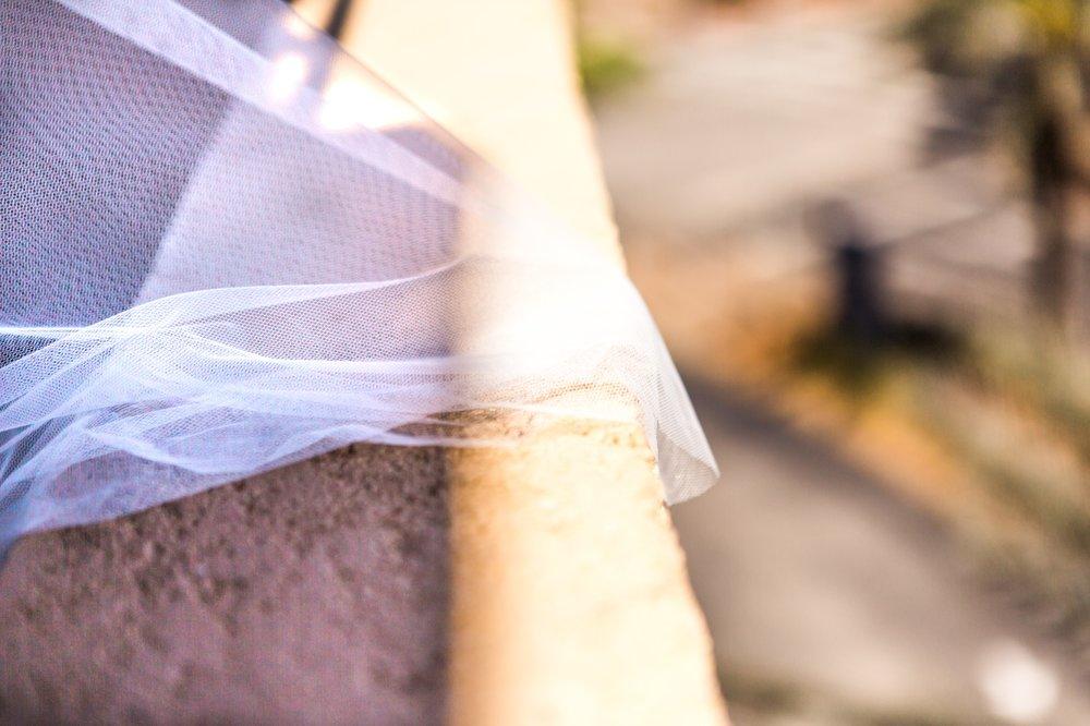 bridal wedding veil morning photos Winter Park Farmers Market Wedding