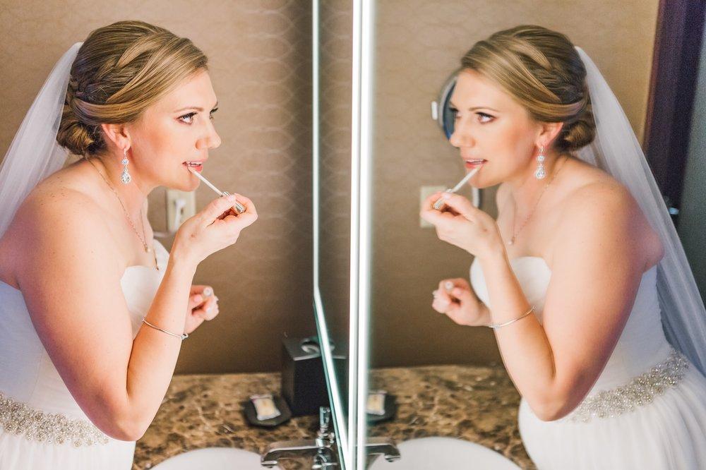 bridal morning prep makeup photos Winter Park Farmers Market Wedding