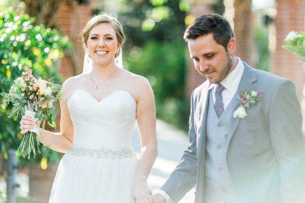 Rustic chic Bride + Groom first look photos Winter Park Farmers Market Wedding