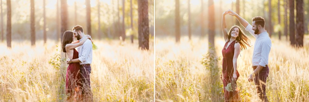 Forest engagement couples photos in Orlando at Wekiva Springs via shainadeciryan.com