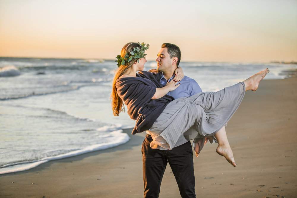 Cocoa Beach seaside engagement