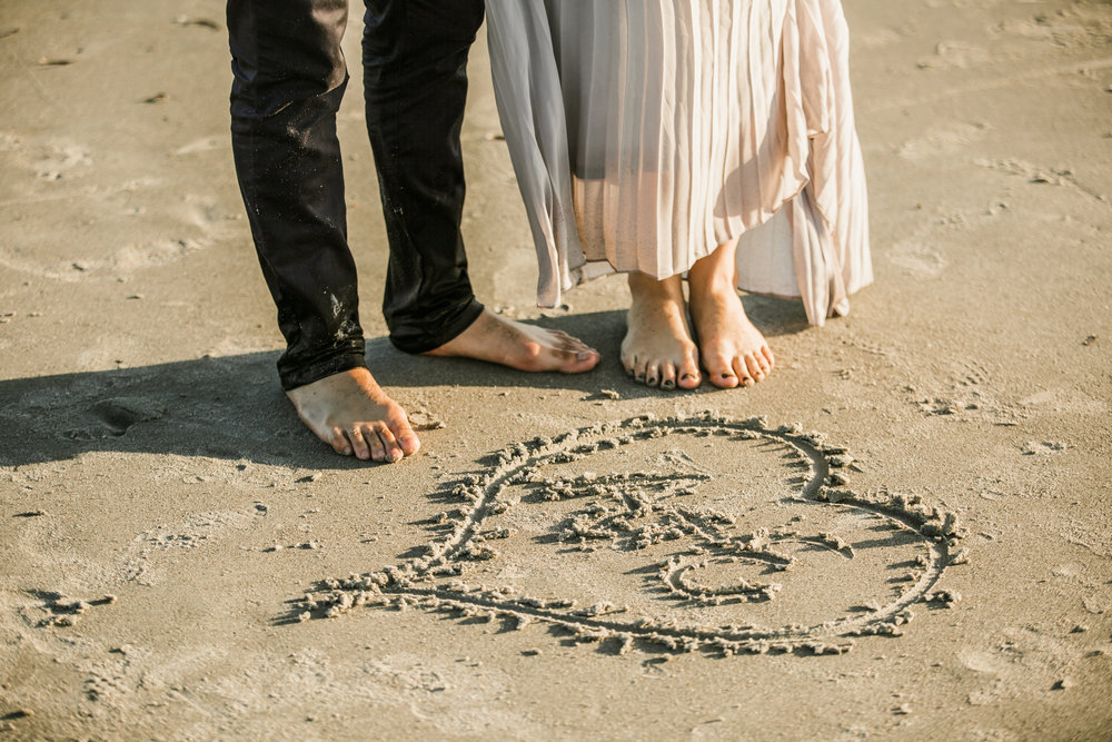Elya + Andres - Cocoa Beach Engagement - boho bride organic eucalpytus crown mermaid forest7.jpg