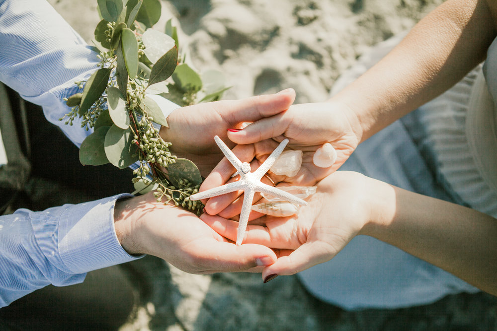 Elya + Andres - Cocoa Beach Engagement - boho bride organic eucalpytus crown mermaid forest9.jpg