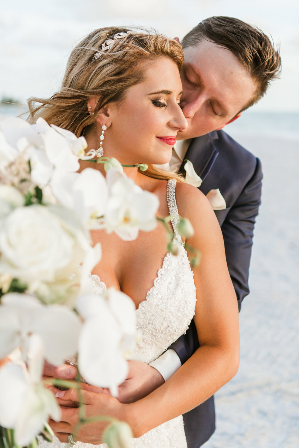 2. Bride+Groom - Brett + Bobby Longboat Key Beach Wedding 35.jpg